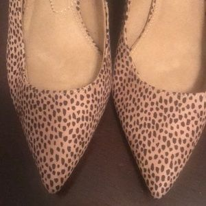 Old Navy animal print heels.